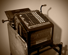 old fashioned accounting machine